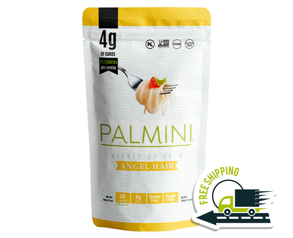 Palmini Angel Hair Low Carb Pasta | 4g of Carbs | As Seen On Shark Tank | 1 Unit Pouch 12 Oz.