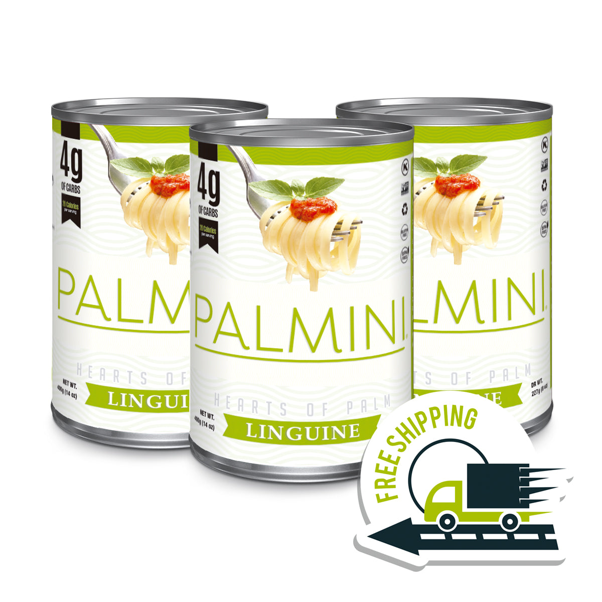 Palmini Linguine | 3 Unit Case | 14 Oz. Net |