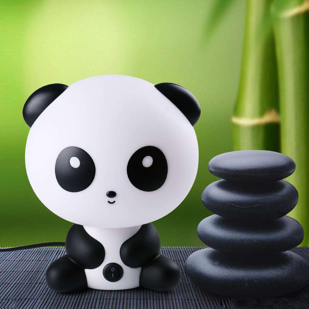 Cartoon pandabunnybear table lamp the lucky panda cartoon pandabunnybear table lampproductvariant the lucky panda geotapseo Choice Image