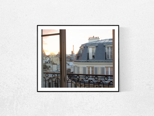 Window onto St Germain at Sunset - Every Day Paris