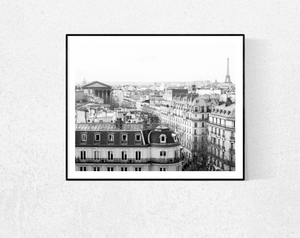 Eiffel Tower View of Paris in Black and White - Every Day Paris
