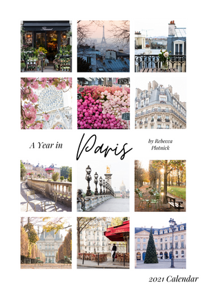 A Year in Paris 2021 Calendar and Notecard Set of 5