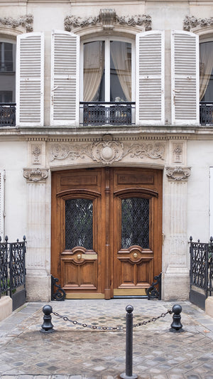 Left Bank Brown Door - Every Day Paris