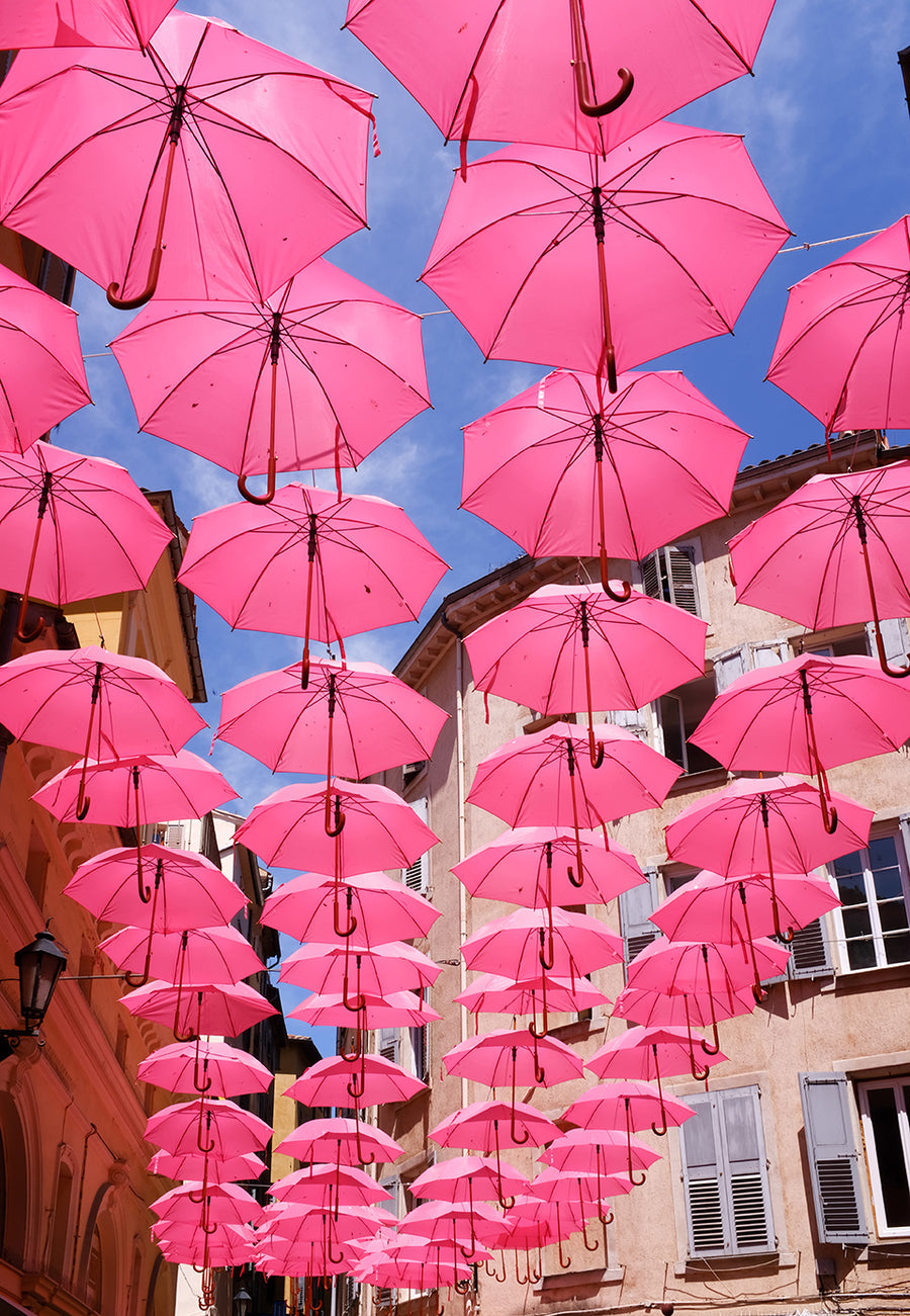 Pink Umbrellas in Grasse France - Every Day Paris