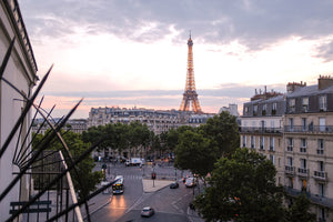 Eiffel Tower Balcony View at Sunset - Every Day Paris