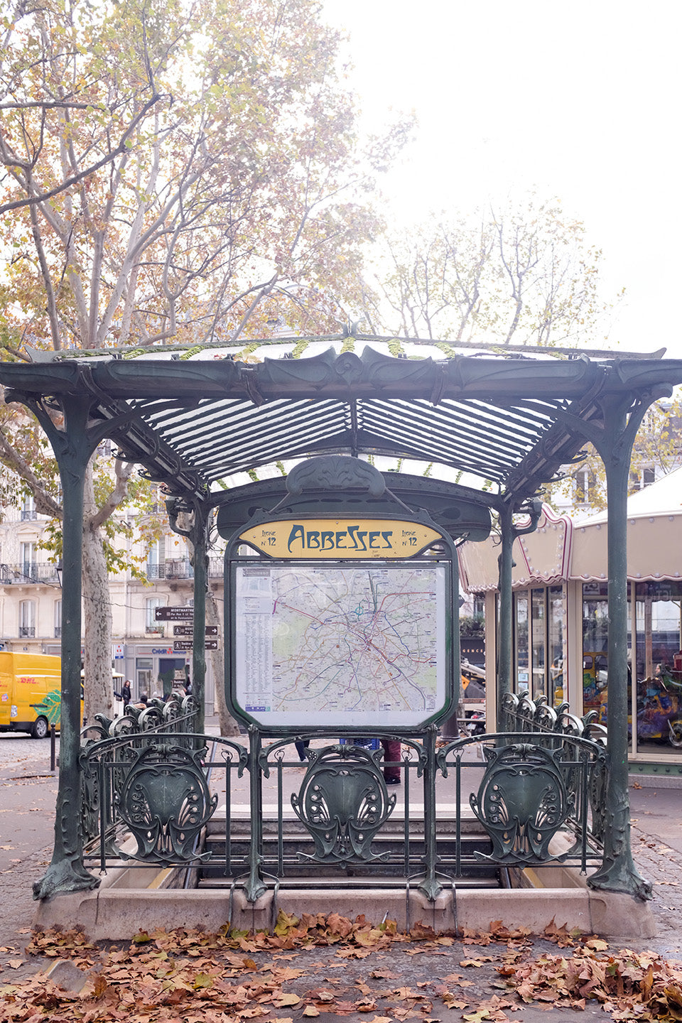 The Paris Metro Rue des Abbesses - Every Day Paris