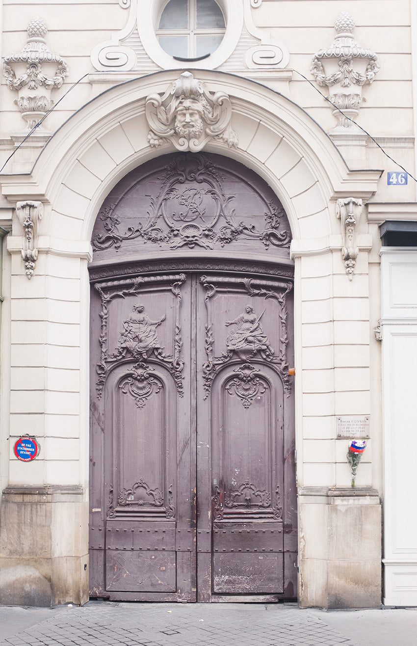 Left Bank Purple Door - Every Day Paris