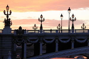 Sunset on the Seine on Pont Alexandre III - Every Day Paris