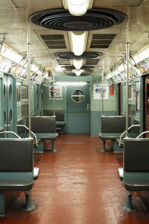 NYC Baby Blue Vintage Subway Train