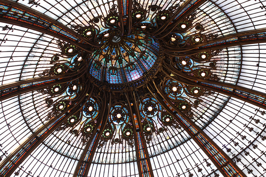 Galleries Lafayette Stained Glass Ceiling - Every Day Paris