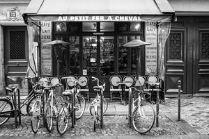 Paris Café Black and White Print Set of Four - Every Day Paris
