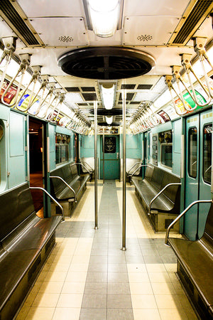 NYC Mint Green Vintage Subway Train