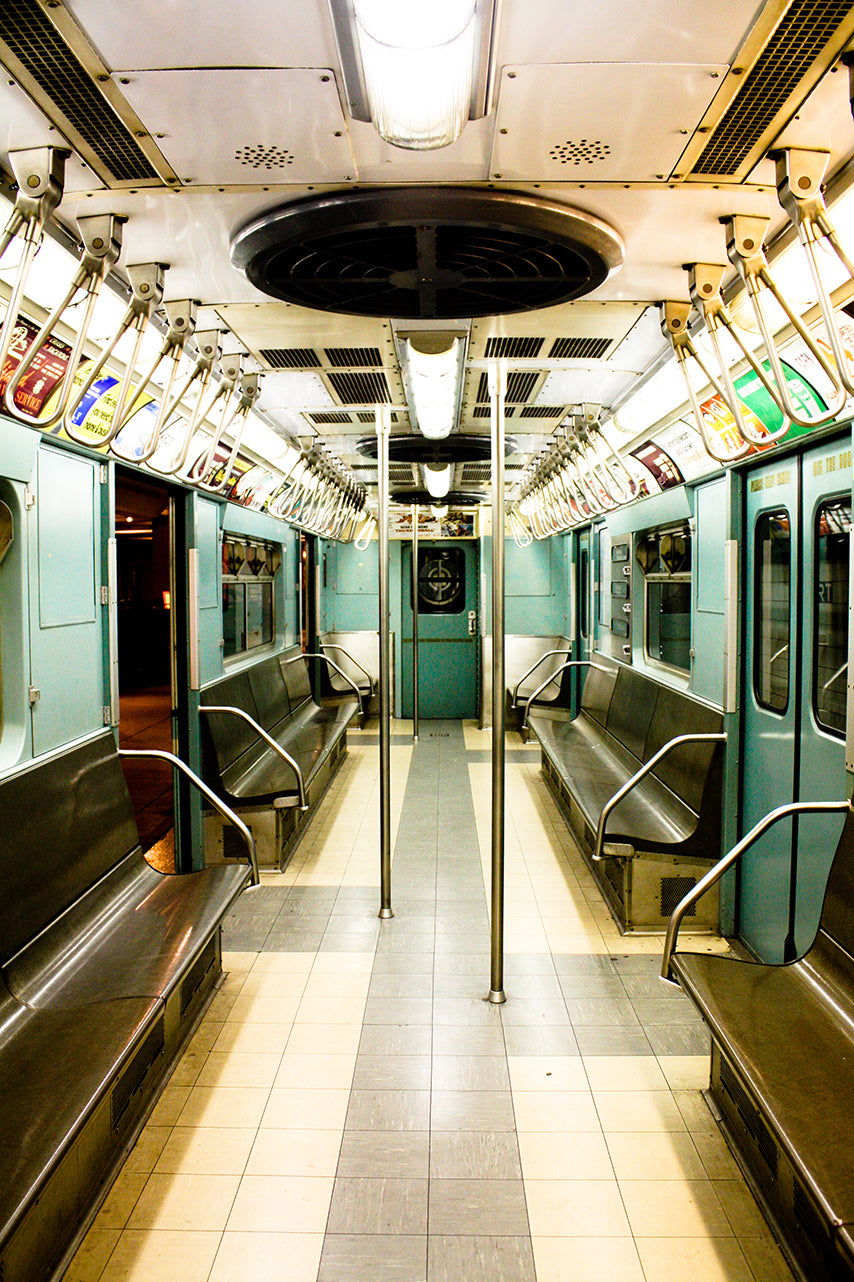 NYC Mint Green Vintage Subway Train - Every Day Paris