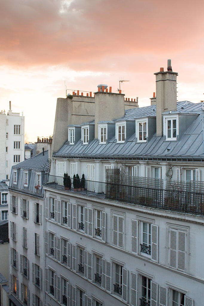 Sunset view over the Parisian Rooftops on St Germain - Every Day Paris