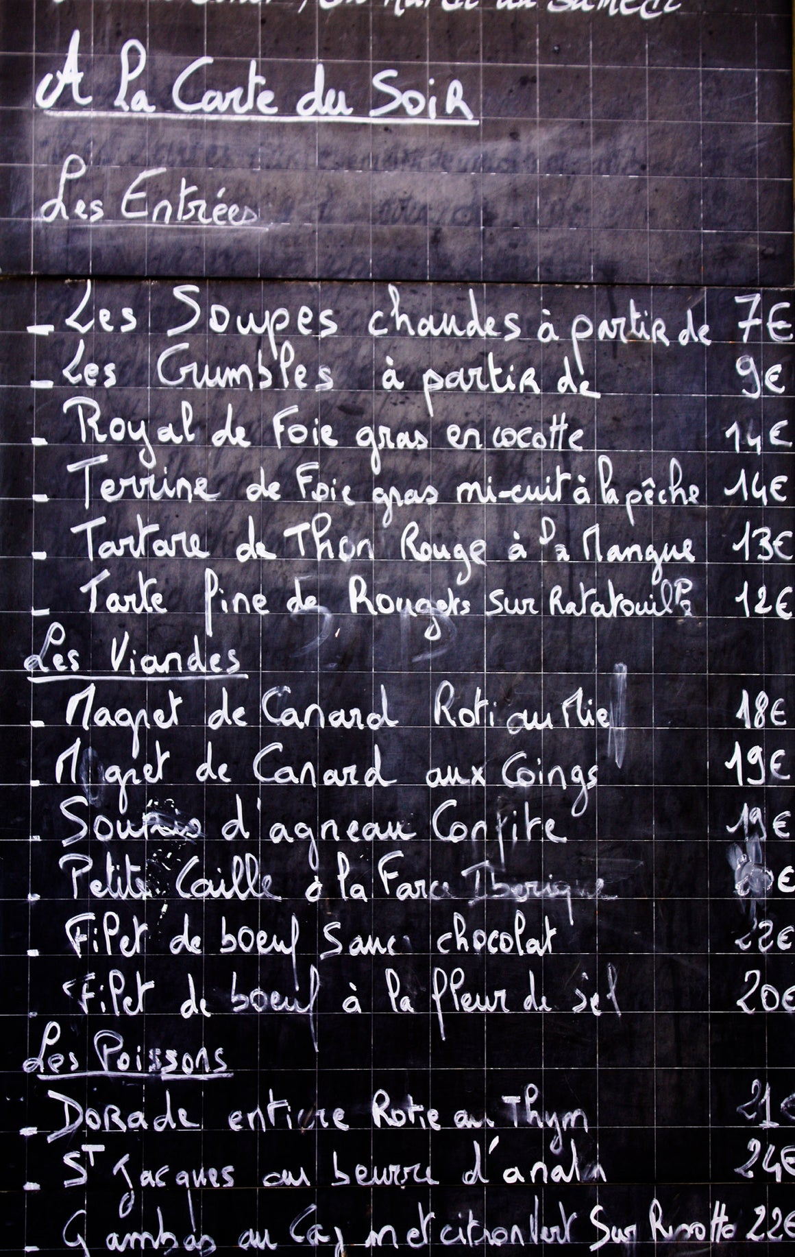 Classic French Menu France - Every Day Paris