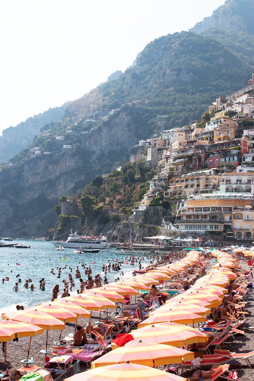 August Beach Day in Positano