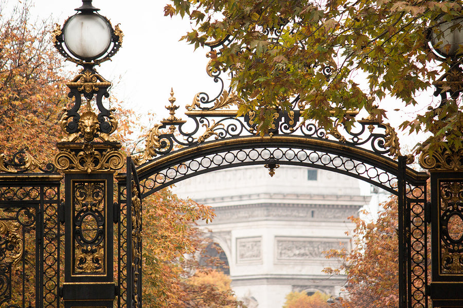 Gate to Parc Monceau in Fall - Every Day Paris