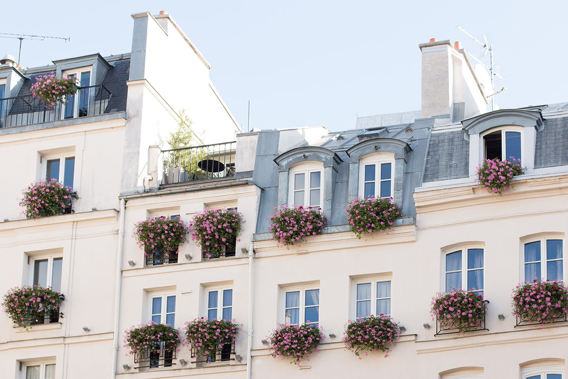 Spring Floral Balcony on St Germain de Près - Every Day Paris