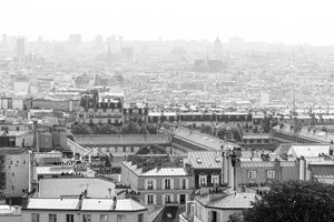 Montmartre View of Paris in Black and White - Every Day Paris