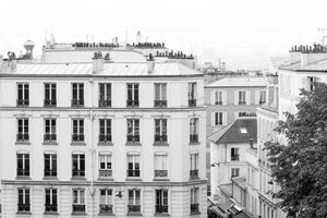Montmartre Rooftop View of Paris in Black and White - Every Day Paris