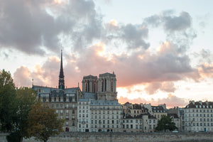 Notre Dame Sunset on The Seine - Every Day Paris