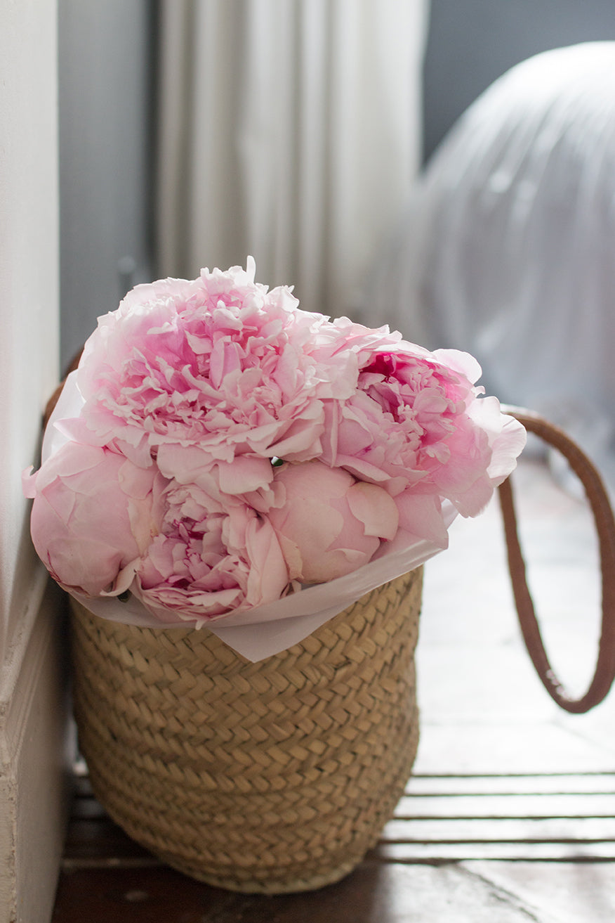 Market Basket Paris Peonies - Every Day Paris