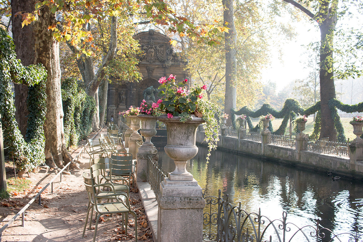 Fall at Medici Fountain in Luxembourg Gardens - Every Day Paris
