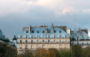 Right Bank Paris Rooftops at Sunset