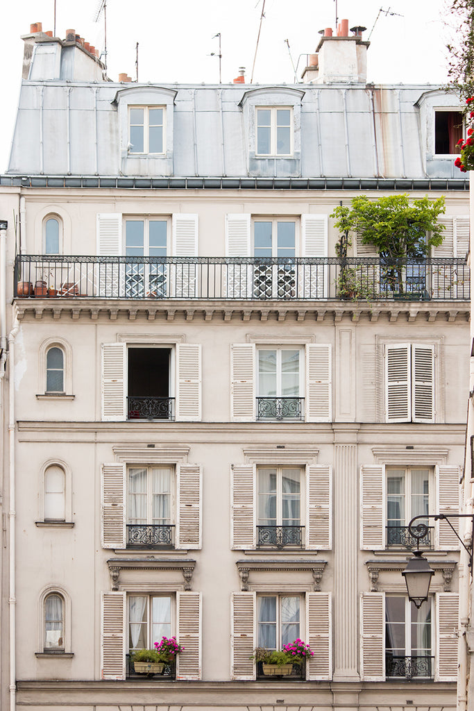 Right Bank Paris Apartment Windows - Every Day Paris