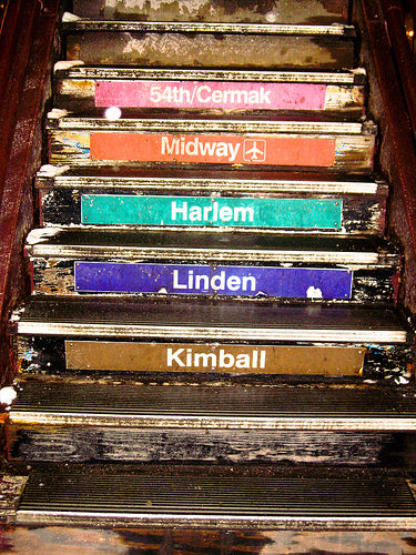 Chicago El Stairs - Every Day Paris