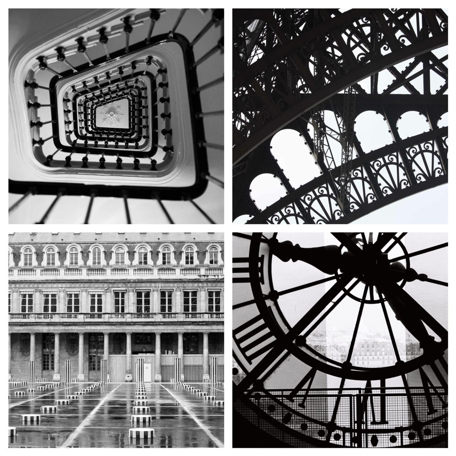 Black and White Paris Photography Set of Four Prints - Every Day Paris