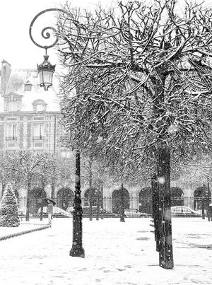 Snowy Morning in Place des Vosges - Every Day Paris