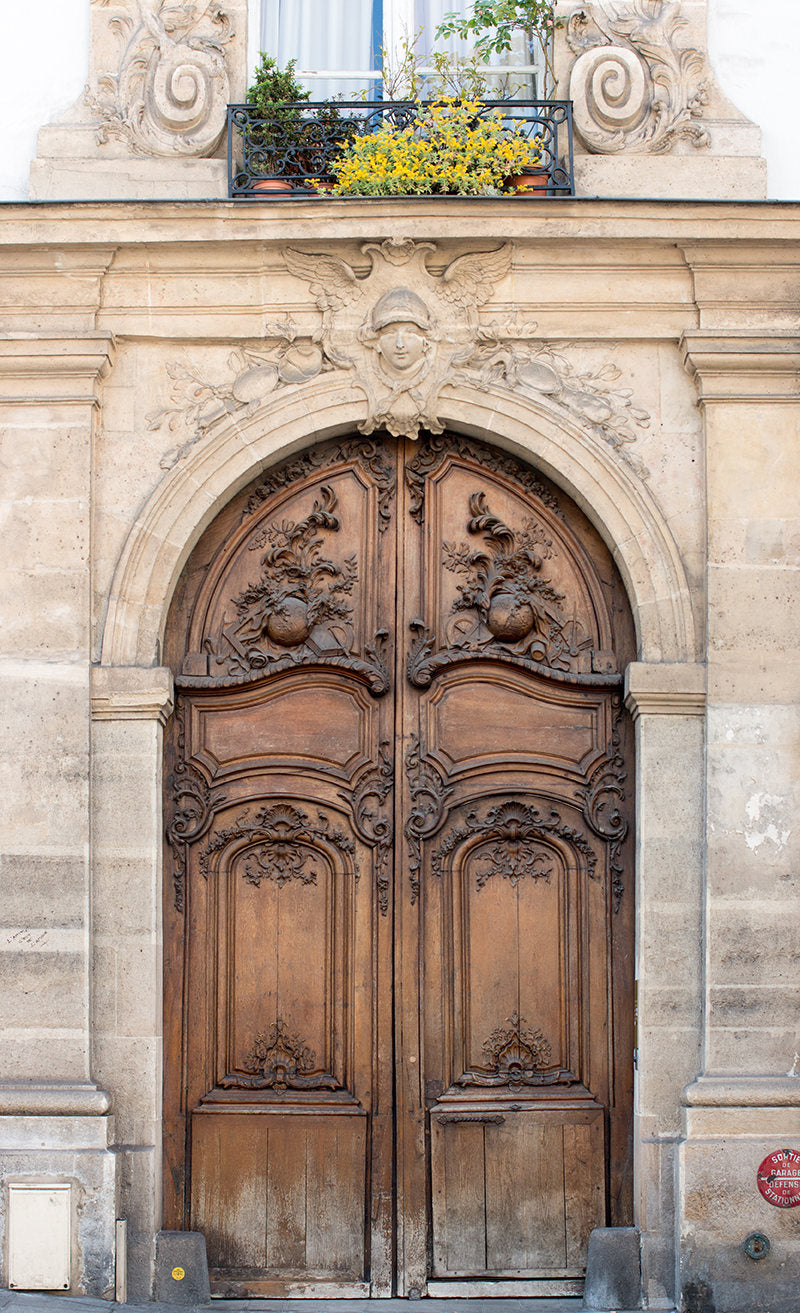 Brown Apartment door on The Left Bank - Every Day Paris