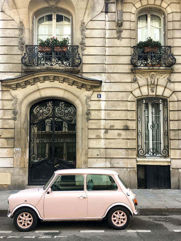 Pink Car on The Streets of Paris - Every Day Paris