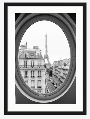 Eiffel Tower Window View - Every Day Paris
