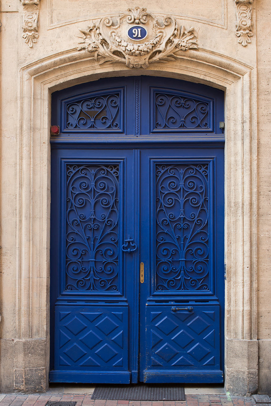 Blue Door in Bordeaux France - Every Day Paris