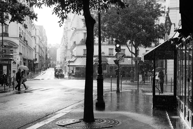 Paris black and white photography rainy sunday morning in paris every day paris