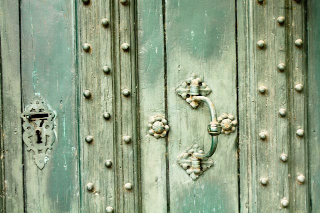Mint Green Doors in Southern France