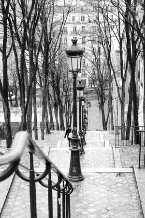 Taking the stairs in Montmartre - Every Day Paris