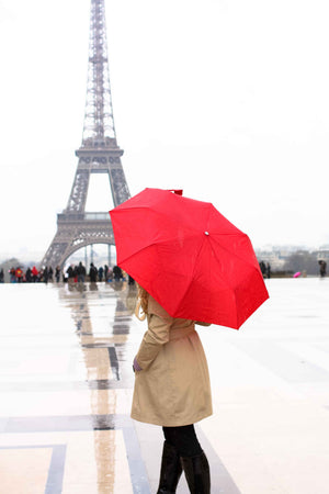 Girl in Paris with the Red Umbrella - Every Day Paris