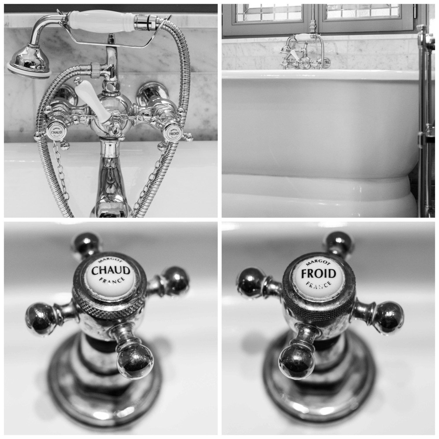 French Hot And Cold Bathroom Faucet Set Of 4