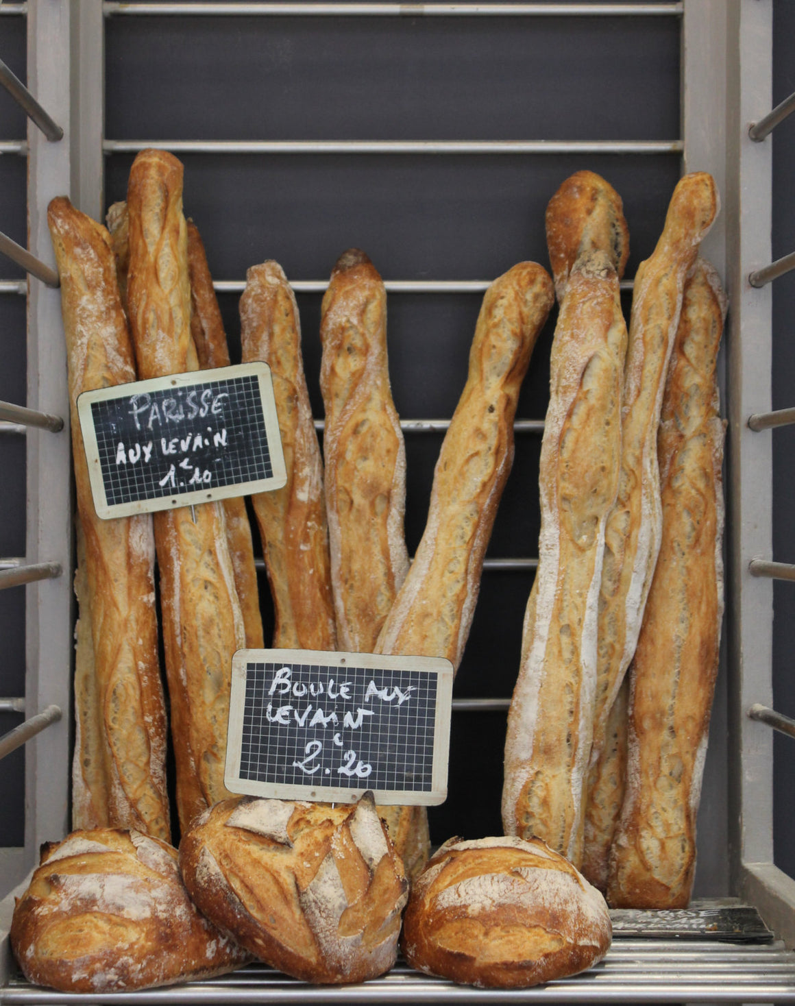 French Baguettes at a Paris Boulangerie