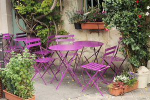 Purple Cafe Chairs in Paris - Every Day Paris