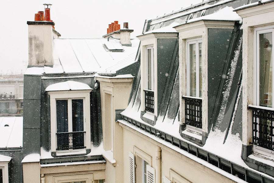 Snow covered rooftops in Montmartre - Every Day Paris