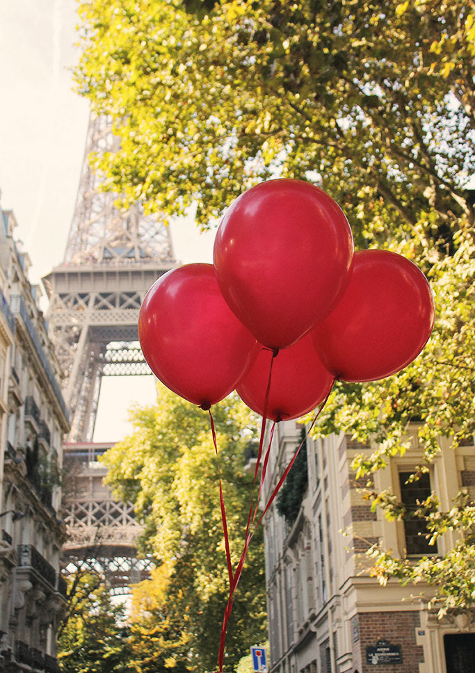 Red Balloons at the Eiffel Tower