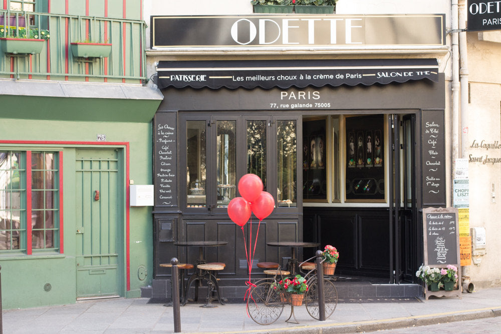 Red Balloons at Odette Patisserie - Every Day Paris