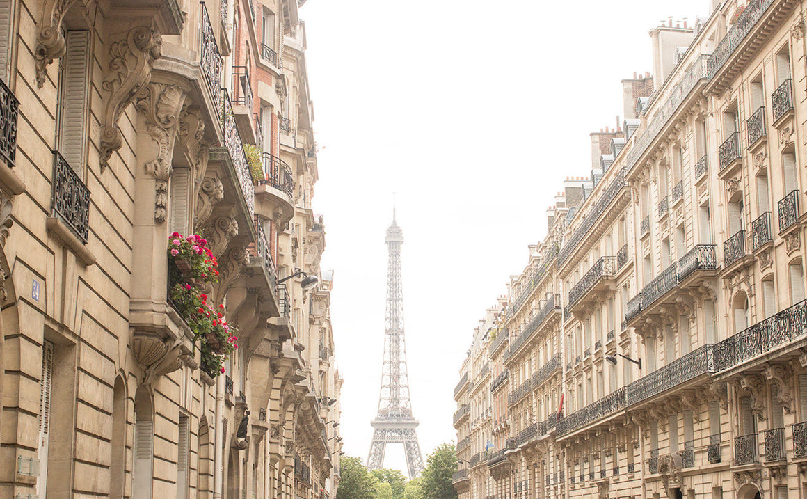 Eiffel Tower View from the Sunny Side of the Street - Every Day Paris
