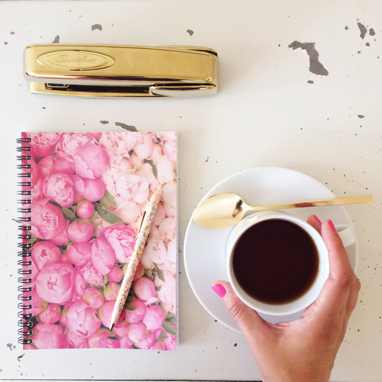 Paris Peony Notebook - Every Day Paris