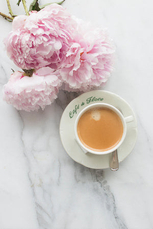 Coffee and Peonies - Every Day Paris