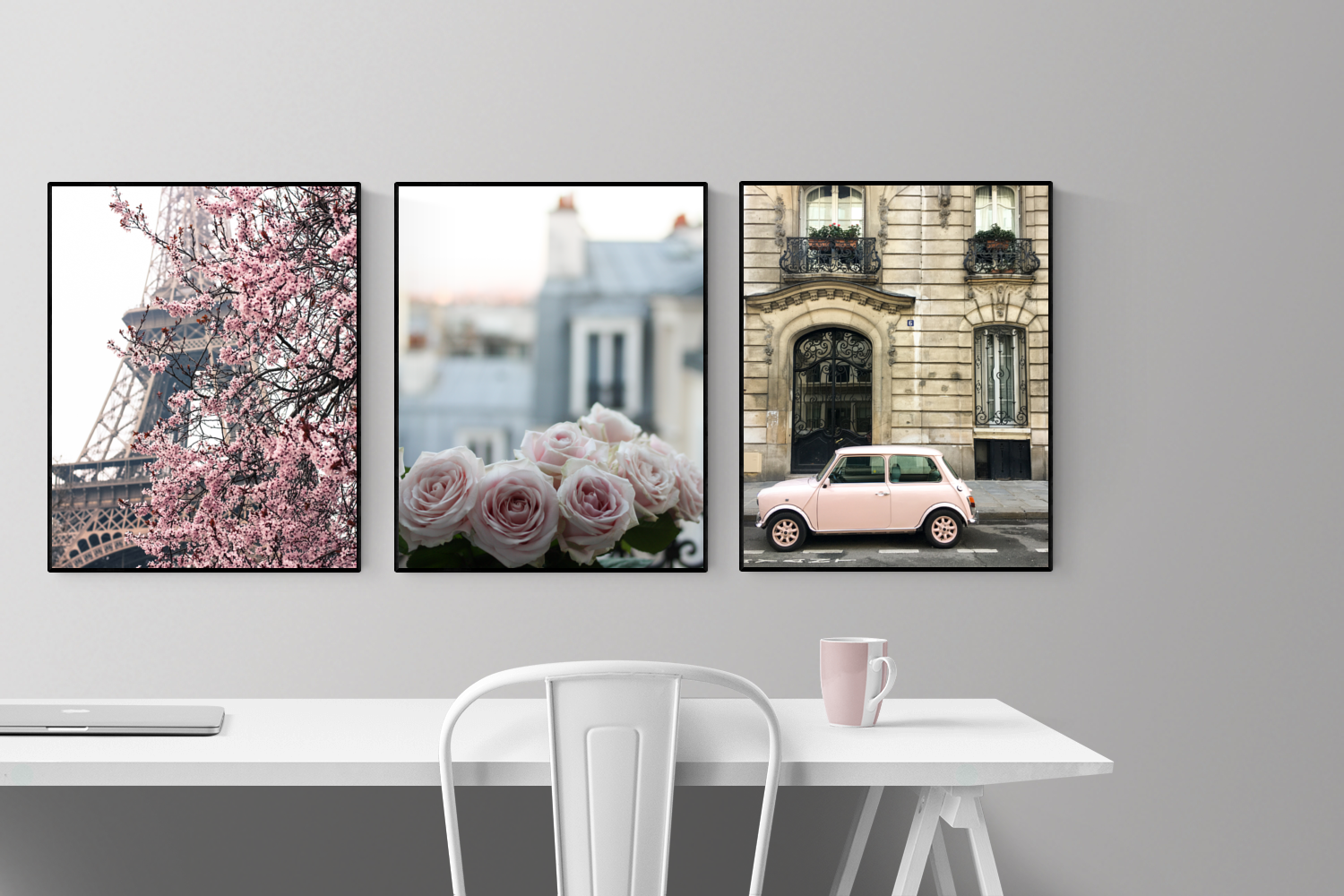 Paris Print Set of 3 in Pink - Every Day Paris